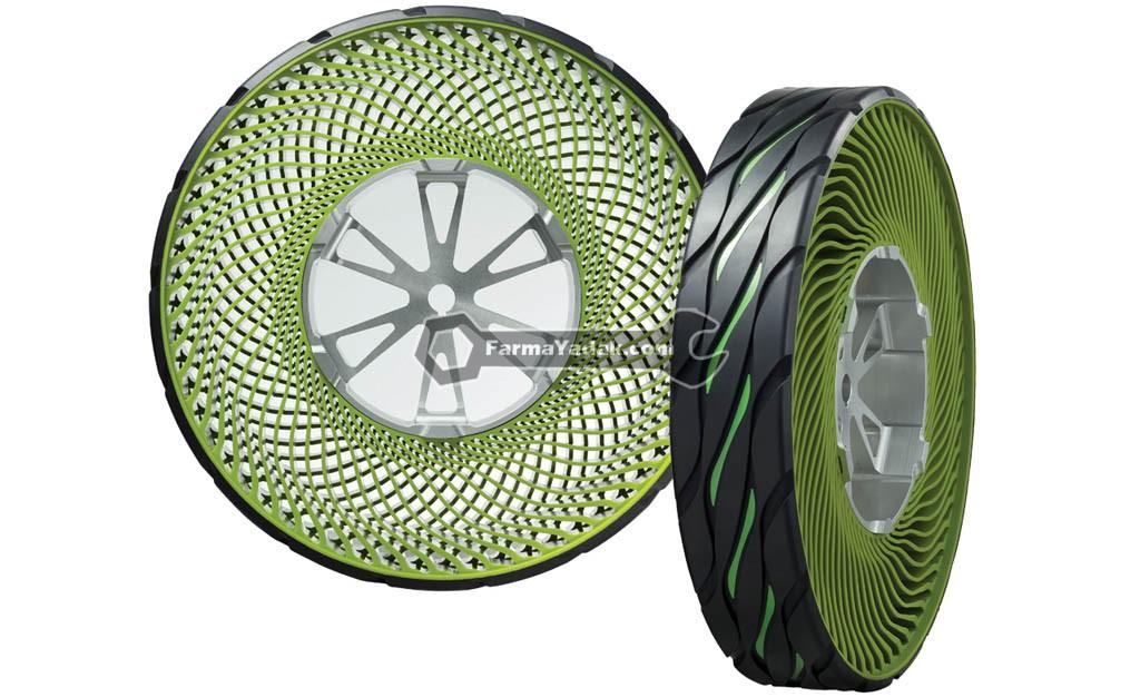 Tech Dept Airless Tire and Wheel placement تایرهای بدون باد